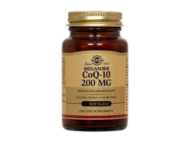Megasorb CoQ-10 200mg - Solgar - 60 - Softgel