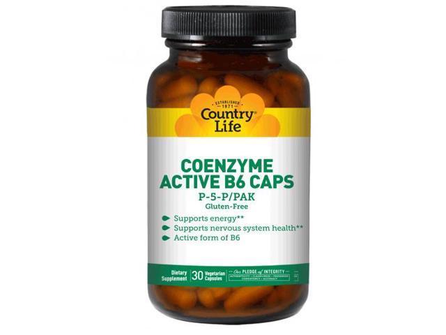 Coenzyme Active B6 (Pyridoxal 5 Phosphate) 50mg - Country Life - 30 - VegCap