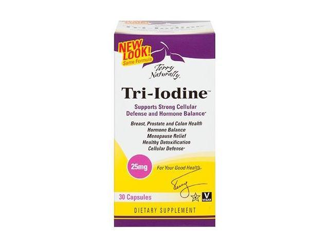 Tri Iodine 25mg - EuroPharma (Terry Naturally) - 30 - Tablet