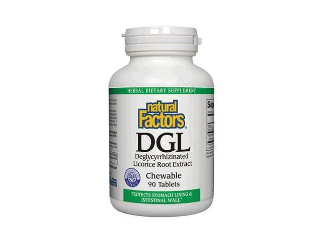 DGL Licorice Chewable Tablets - Natural Factors - 90 - Tablet