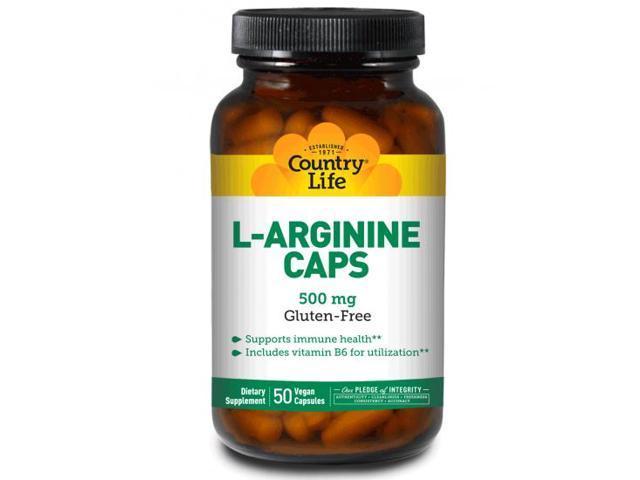 L Arginine 500mg with B-6 - Country Life - 200 - VegCap