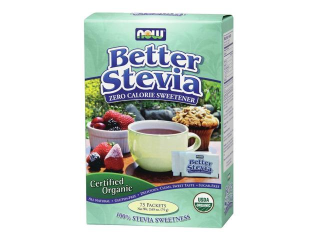Organic Stevia Packets - Now Foods - 75 - Packet