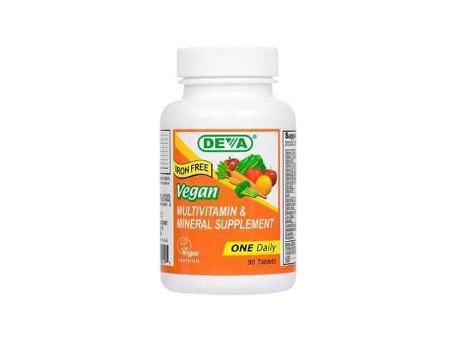Vegan Multivitamin and Mineral Iron Free - Deva Vegan - 90 - Tablet