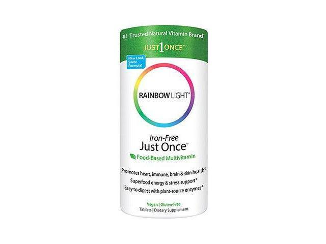 Just Once Iron Free - Rainbow Light - 120 - Tablet
