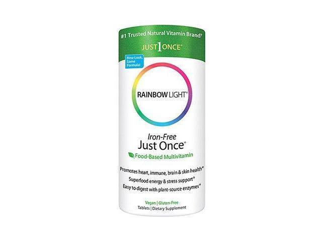 Just Once Iron Free - Rainbow Light - 120 - Tablet