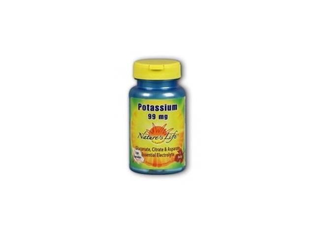 Potassium 99mg - Nature's Life - 100 - Capsule