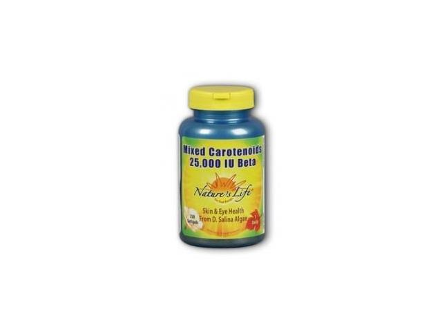 Mixed Carotenoids 25000 IU Beta Carotene - Nature's Life - 250 - Softgel
