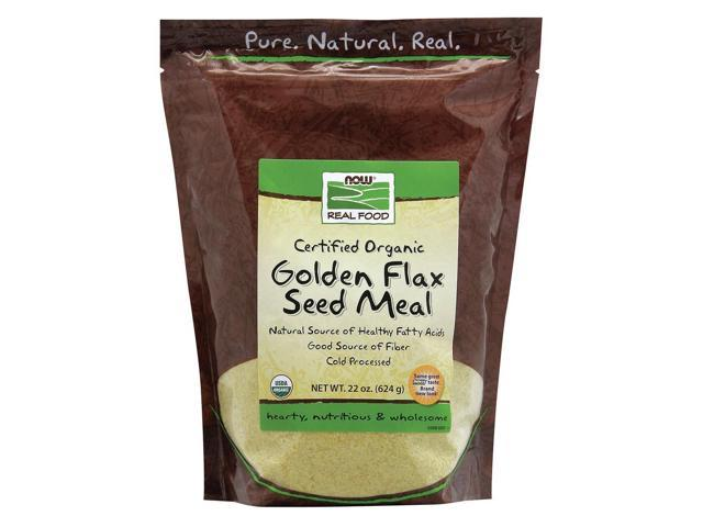 Organic Golden Flax Meal - Now Foods - 22 oz - Powder