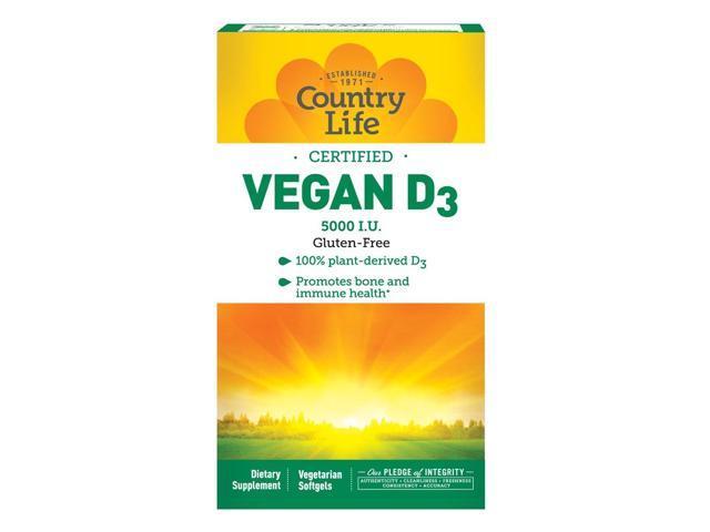 Vegan D3 - Country Life - 60 - VegCap
