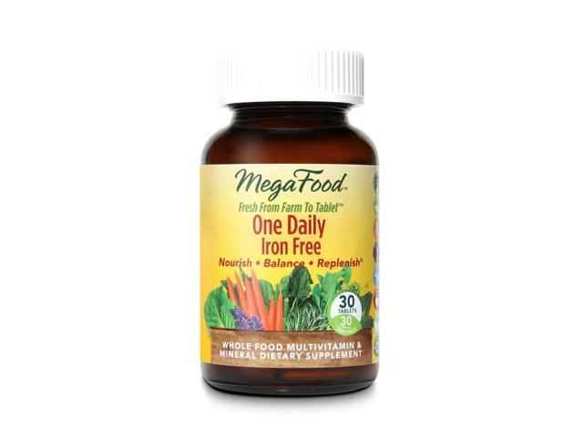 Iron Free One Daily DailyFoods - Vegetarian - MegaFood - 30 - Tablet