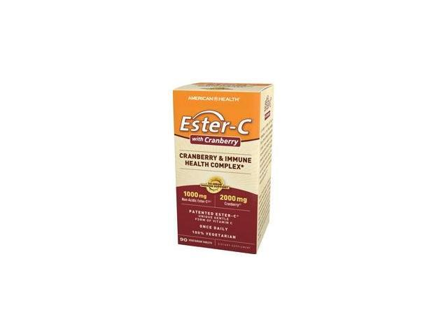 Ester-C With Cranberry (formerly Ester_C Urinary Tract Formula) - American Health Products - 90 - VegTab