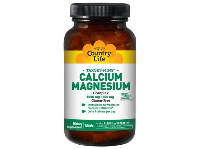 Calcium Magnesium Complex 1000mg and 500mg - Country Life - 180 - Tablet