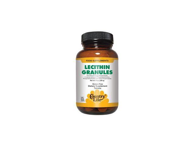 Lecithin Granules - Country Life - 8 oz - Granule