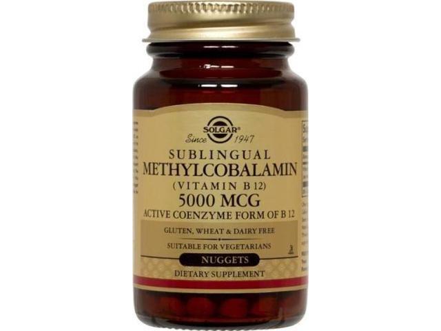 Methylcobalamin (Vitamin B12) 5000 mcg - Solgar - 60 - Nugget