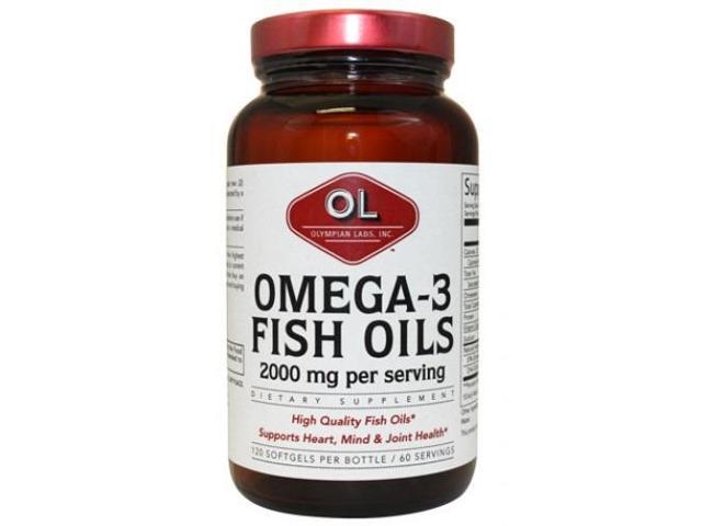 Omega-3 Fish Oils 1000mg - Olympian Labs - 120 - Softgel
