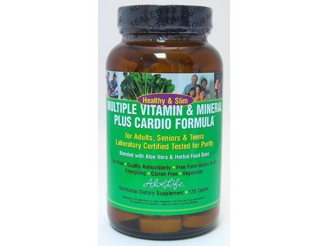 Multiple Vitamin & Mineral Plus Cardio Formula - Aloe Life - 120 - Tablet