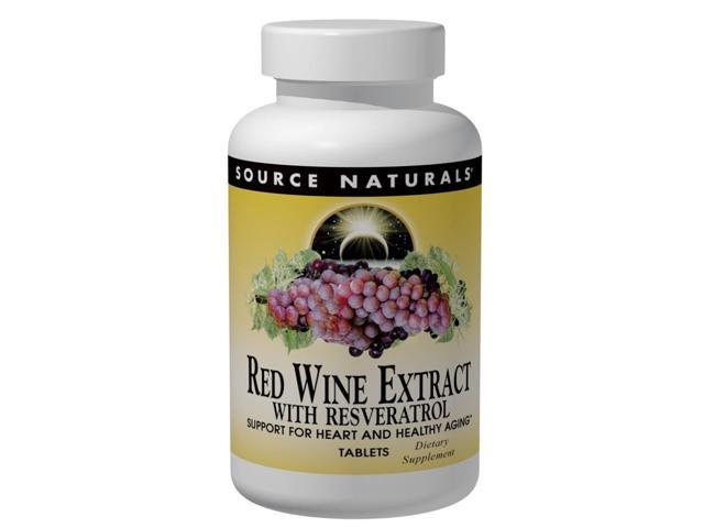 Red Wine Extract With Resveratrol - Source Naturals, Inc. - 60 - Tablet