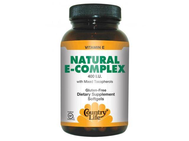 Vitamin E Complex 400 IU With Mixed Tocopherols - Country Life - 90 - Softgel