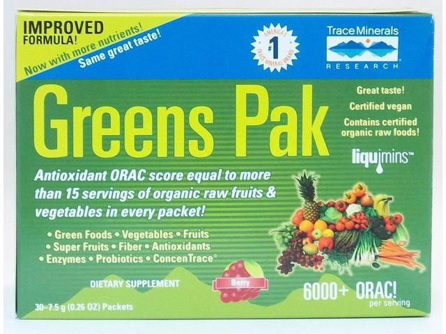 Greens Pak Berry - Trace Minerals - 30 - Packet