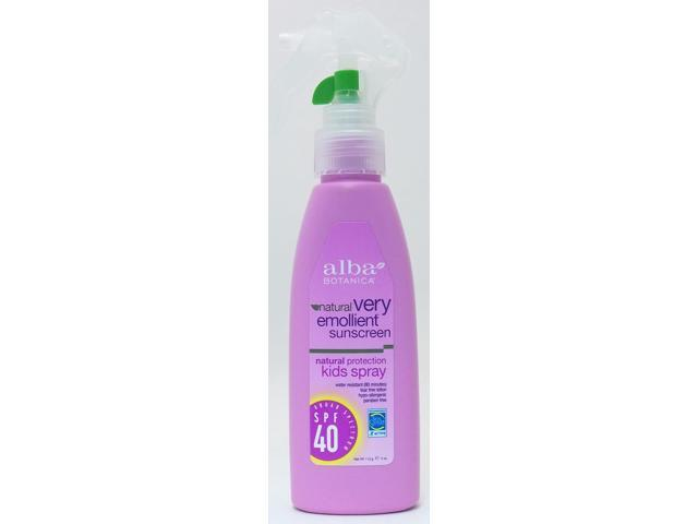 Very Emollient Sunscreen Kids Spray - Alba Botanica - 4 oz - Spray