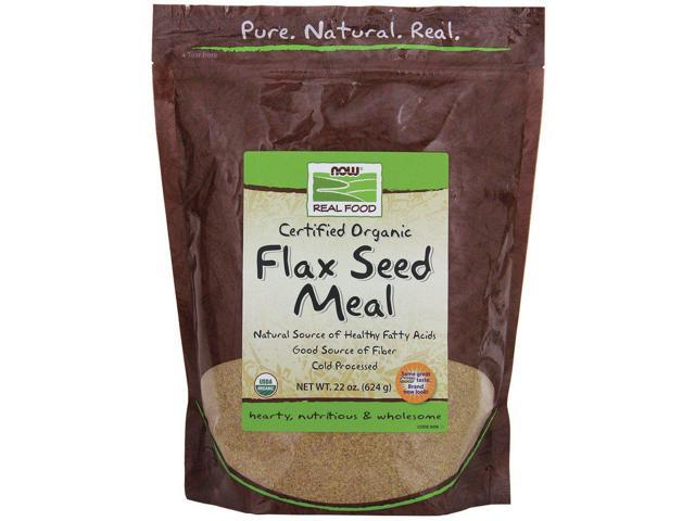 Flax Seed Meal Organic - Now Foods - 22 oz (624 g) - Powder