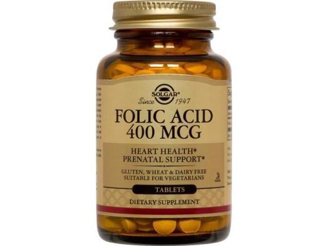 Folic Acid 400mcg - Solgar - 100 - Tablet