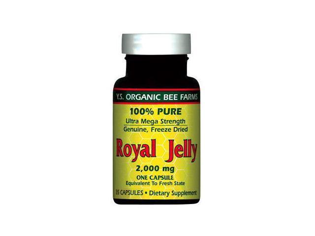 100% Pure Freeze Dried Fresh Royal Jelly - 2000 mg - YS Eco Bee Farms - 35 - Capsule