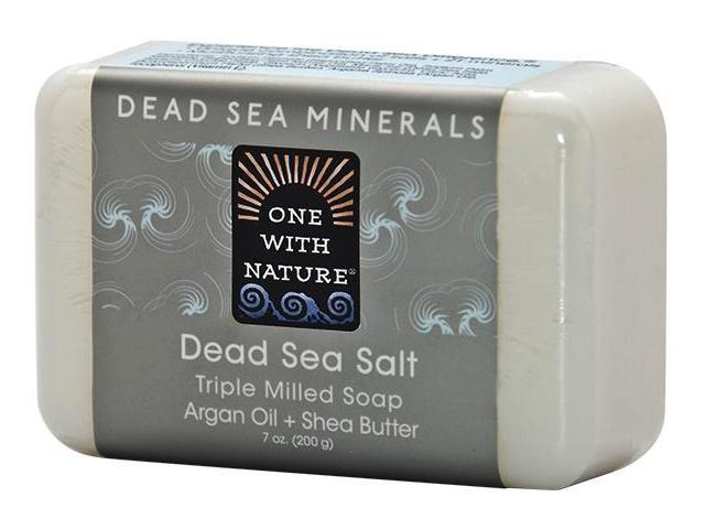 Soap Dead Sea Salt - One With Nature - 7 oz - Soap