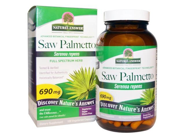 Saw Palmetto Berry Extract - Nature's Answer - 120 - VegCap