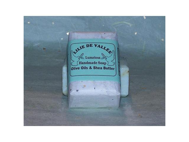 Goat Milk Peppermint Hand Made Soap - Lilie De Vallee - 5 oz - Bar