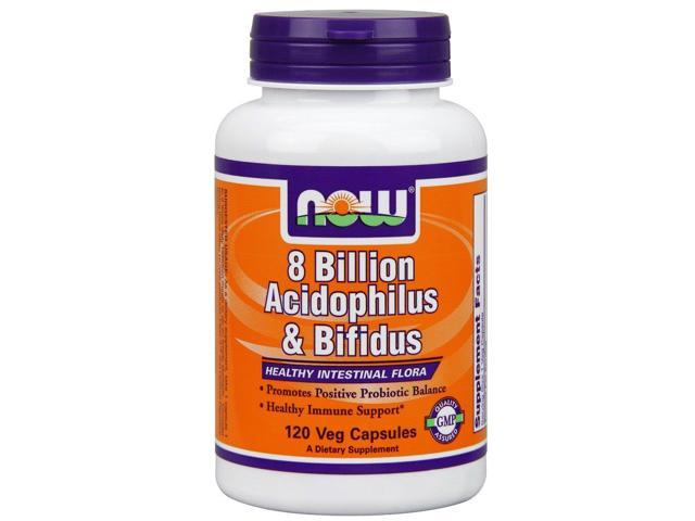 Acidophilus/Bifidus 8 Billion - Now Foods - 120 - Capsule