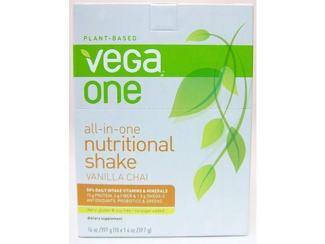 Vega One All-in-One Nutritional Shake - Vanilla Chai - SeQuel - 10 x 1.5 oz - Packets