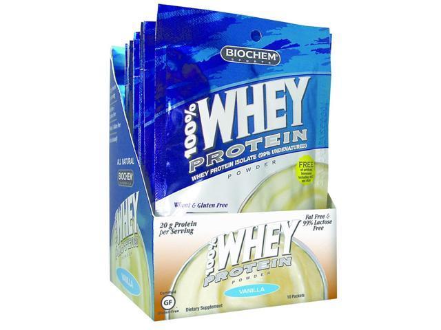 100% Whey Protein Vanilla - Biochem - 10 - Packet