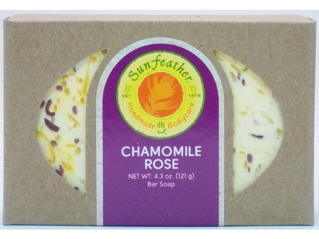 Chamomile Rose Soap - Sunfeather - 4.3 oz - Bar Soap