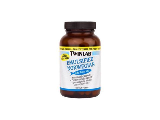 Norwegian Cod Liver Oil-Emulsified - Twinlab, Inc - 100 - Softgel