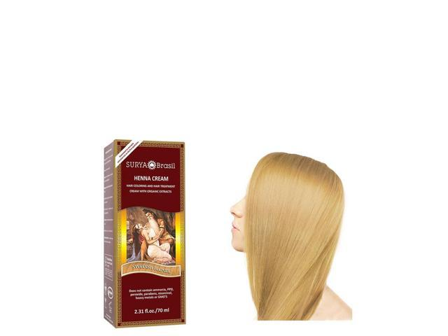 Henna Swedish Blonde Cream - Surya Nature, Inc - 2.31 oz - Cream