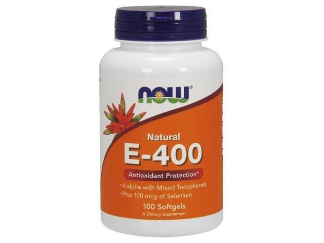 E-400 IU Mixed Tocopherols w/Selenium 100mcg - Now Foods - 100 - Softgel