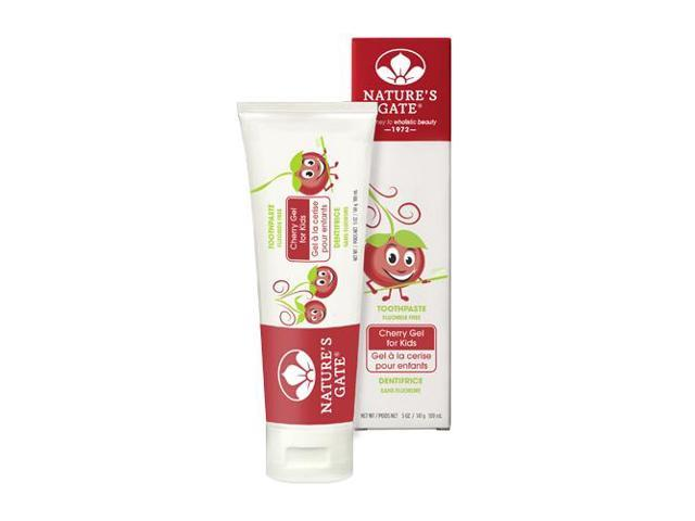 Toothpaste Cherry Gel Flouride-Free - Nature's Gate - 5 oz - Cream