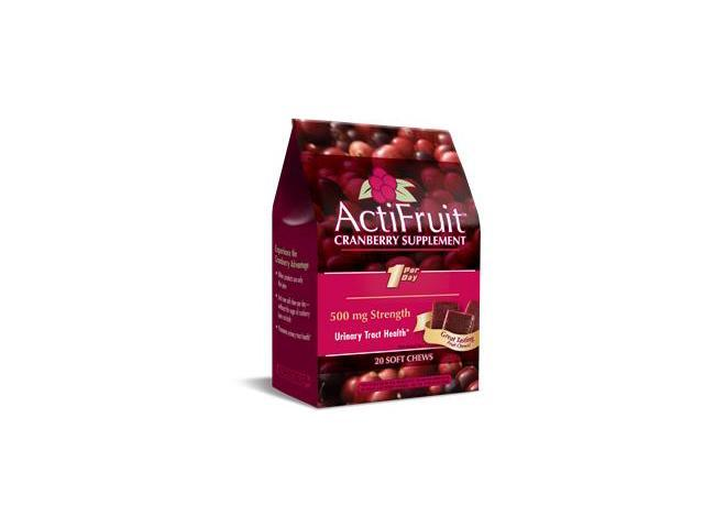 ActiFruit With Cran-Max (20  Soft Chews) - Enzymatic Therapy Inc. - 1 - Bag