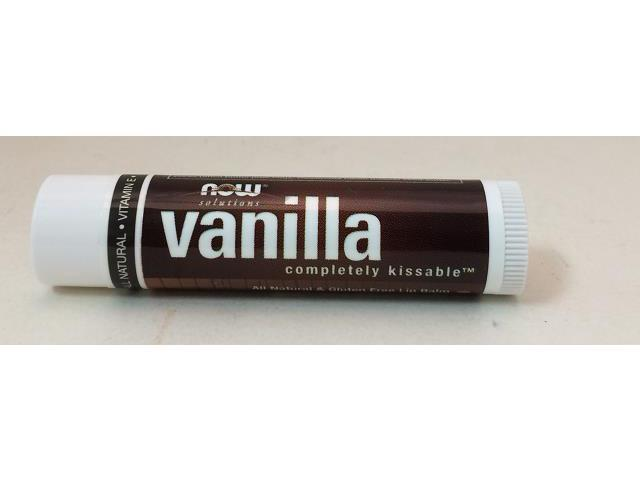 Vanilla Lip Balm Organic - Now Foods - 0.15 oz - Balm