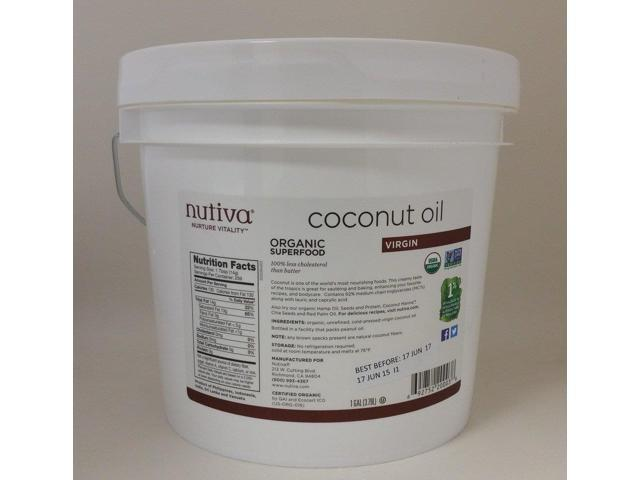 Organic Virgin Coconut Oil - Nutiva - 1 Gallon - Liquid