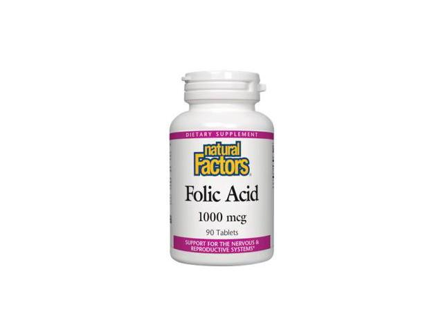 Folic Acid 1000 mcg - Natural Factors - 90 - Tablet