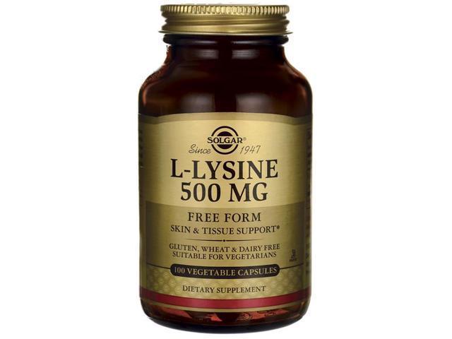 L-Lysine 500mg - Solgar - 100 - VegCap