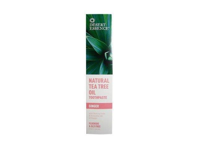 Toothpaste-Tea Tree Oil With Ginger - Desert Essence - 6.4 oz - Paste