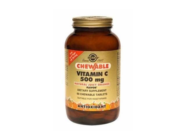 Vitamin C 500 mg Chewable Tablets - Juicy Orange Flavor - Solgar - 90 - Chewable Tablet