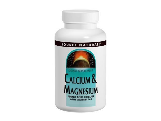 Calcium & Magnesium  Amino Acid Chelate  With Vitamin D-3 - Source Naturals, Inc. - 250 - Tablet