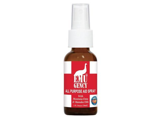 EMUgency All Purpose First Aid Spray - Montana Emu Ranch Co. - 1 oz - Liquid