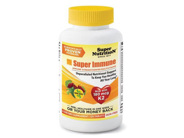Super Immune Multivitamin without Iron - Super Nutrition - 120 - Tablet