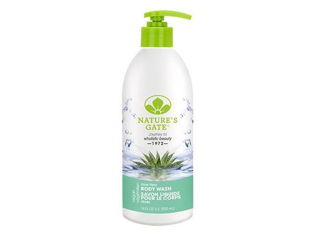 Aloe Body Wash - Nature's Gate - 18 oz - Liquid