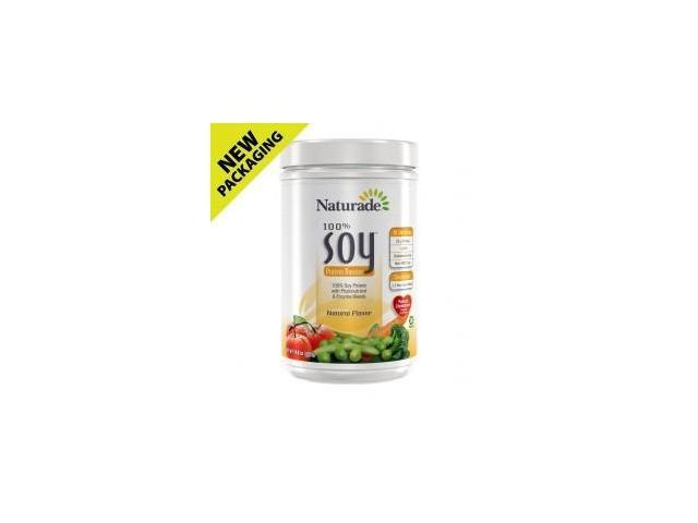 Soy Protein (100%) Fat Free - Naturade Products - 16 oz - Powder